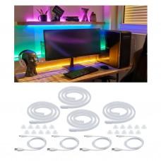 Лента светодиодная Paulmann Neon Colorflex 4х1м 4x4.5Вт 5В Фуксия/Оранжевый/Зеленый/Синий USB 70558
