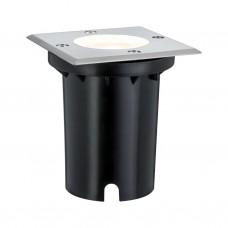 Уличный встраиваемый светильник Paulmann 3.5Вт GU10 IP67 3000К 108мм 230В Сталь Металл 93993
