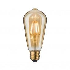 Лампа филаментная Paulmann Vintage ST64 5Вт 420лм 2500К E27 230В Золото 28390