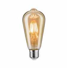 Лампа филаментная Paulmann Vintage Rustika ST64 6Вт 500лм 1700К E27 230В Золото Димм 28523