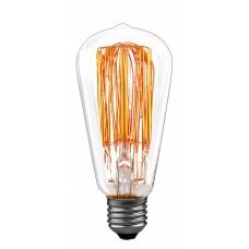 Лампа накаливания Paulmann Rustuka Retro D65мм 60Вт 160лм 2200К E27 230В Прозрачный 55060