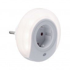 Светильник штекерный Paulmann Esby 0.2Вт 22лм 3000К IP20 LED 230В Белый Датчик сумерек Розетка 92494