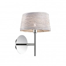 Светильник настенный Ideal lux Basket AP1 H26 28Вт G9 2700К IP20 230В Хром Металл/Бечевка 082493