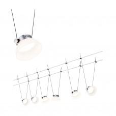 Светильник струнный Paulmann IceLED I 6x4Вт 200лм 2700К 230/12В Хром матовый/Белый Набор 94113