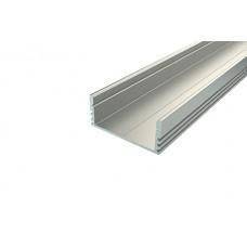 Профиль накладной широкий алюминиевый Ledcraft LC-LP-1228-2 Anod