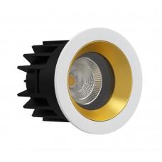 Светильник светодиодный LeDron FAST TOP MINI WHITE/GOLD LED 9,2 Вт 3000К Белый порошковое покрытие /Золотой