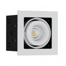 Светильник встраиваемый LeDron ON-201-9W WH/BK LED 9,3 Вт 3000К Белый порошковое покрытие