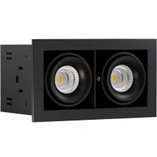 Светильник встраиваемый LeDron ON-202-9W BK/BK LED 2*9,3 Вт 3000К Черный/Черный порошковое покрытие