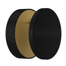 Настенный светодиодный светильник LeDron UFO G2 BLACK/GOLD LED 7 Вт 3000К Черный/Золото порошковое покрытие