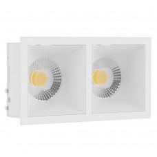 Светильник встраиваемый LeDron RISE KIT 2 white GU10 50 Вт Белый