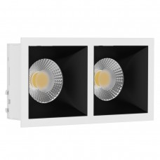 Светильник встраиваемый LeDron RISE KIT 2 White/Black GU10 50 Вт Белый/Черный