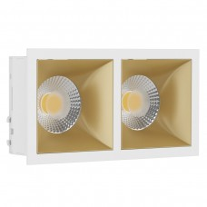 Светильник встраиваемый LeDron RISE KIT 2 White/Gold GU10 50 Вт Белый/золото