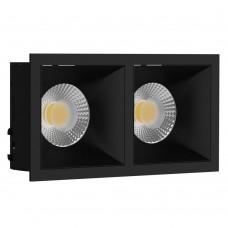 Светильник встраиваемый LeDron RISE KIT 2 Black GU10 50 Вт Черный/Черный