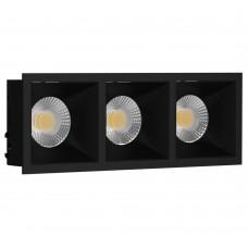 Светильник встраиваемый LeDron RISE KIT 3 Black GU10 50 Вт Черный/Черный