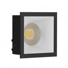 Светильник встраиваемый LeDron RISE KIT 1 Black/White GU10 50 Вт Черный/Белый