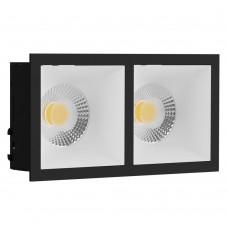 Светильник встраиваемый LeDron RISE KIT 2 Black/White GU10 50 Вт Черный/Белый