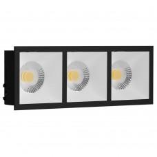 Светильник встраиваемый LeDron RISE KIT 3 Black/White GU10 50 Вт Черный/Белый