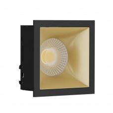 Светильник встраиваемый LeDron RISE KIT 1 Black/Gold GU10 50 Вт Черный/золото