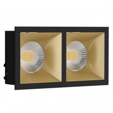 Светильник встраиваемый LeDron RISE KIT 2 Black/Gold GU10 50 Вт Черный/золото