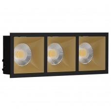 Светильник встраиваемый LeDron RISE KIT 3 Black/Gold GU10 50 Вт Черный/золото
