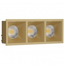 Светильник встраиваемый LeDron RISE KIT 3 Gold GU10 50 Вт Золото/золото