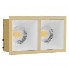 Светильник встраиваемый LeDron RISE KIT 2 Gold/White GU10 50 Вт Золото/белый