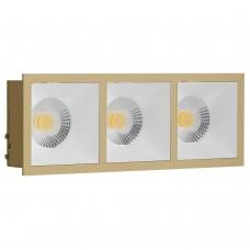 Светильник встраиваемый LeDron RISE KIT 3 Gold/White GU10 50 Вт Золото/белый