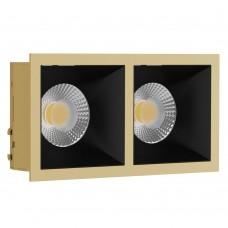 Светильник встраиваемый LeDron RISE KIT 2 Gold/Black GU10 50 Вт Золото/черный