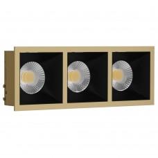 Светильник встраиваемый LeDron RISE KIT 3 Gold/Black GU10 50 Вт Золото/черный