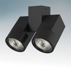 Встраиваемый светодиодный светильник Lightstar ILLUMO X2 NERO 051037