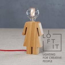 Настольная лампа в стиле Лофт Loft IT 6053T/S GIRL Светлое дерево