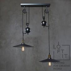 Светильник лофт Loft IT LOFT1832C-2 Чёрный дымчатый
