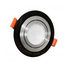 Встраиваемый точечный светильник Lumina Deco Duka LDC 8062-D90 BK+SL