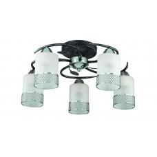 Потолочная люстра Lumion 3022/5C черный/серебр. патина/хром/метал. декор E27 5*60W 220V MIRABELLA