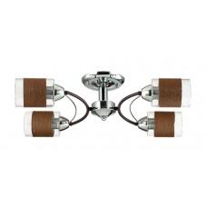 Потолочная люстра Lumion 3030/4C хром/кофе/стекло/декор.тесьма E27 4*60W 220V FILLA
