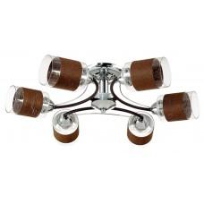 Потолочная люстра Lumion 3030/6C хром/кофе/стекло/декор.тесьма E27 6*60W 220V FILLA