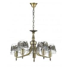 Подвесная люстра Lumion 3051/5 бронзовый/стекло/метал. декор E27 1*40W 220V COLOMBINA