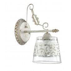 Бра Lumion 3052/1W белый/зол.патина/стекло/метал. декор. E14 3*40W 220V CORSARO