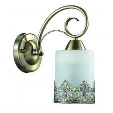Бра Lumion 3070/1W бронзовый/стекло/метал. декор E27 1*40W 220V CITADELLA