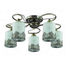 Потолочная люстра Lumion 3070/5C бронзовый/стекло/метал. декор E27 5*40W 220V CITADELLA