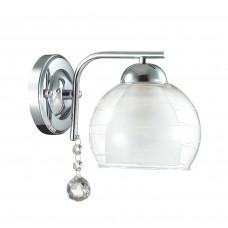 Бра Lumion 3071/1W хром/стекло/подвес хрусталь E14 1*40W 220V BRINNA