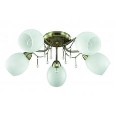 Потолочная люстра Lumion 3145/5C бронзовый/стекло/декор.цепочки E27 5*60W 220V VERONICA