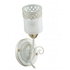 Бра Lumion 3237/1W белый/зол.патина/стекло/метал. декор E14 1*60W 220V GAETTA