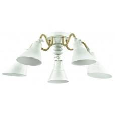 Подвесная люстра лофт Lumion 3246/5C белый/зол.патина/металл/канат.веревка E27 5*60W 220V ARGO