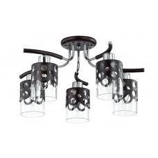 Потолочная люстра Lumion 3272/5C венге/хром/стекло/метал.декор E14 5*60W 220V COLETT