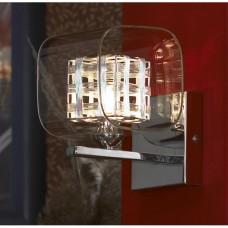 Бра Lussole LSC-8001-01 Sorso, 1 плафон, хром, серебро с прозрачным