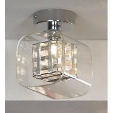 Потолочный светильник Lussole LSC-8007-01 Sorso, 1 плафон, хром, серебро с прозрачным
