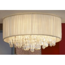 Потолочная люстра Lussole LSC-9507-07 Appiano, 7 ламп, хром, кремовый