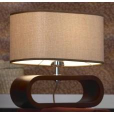 Настольная лампа Lussole LSF-2104-01 Nulvi, 1 плафон, хром с вишней, коричневый
