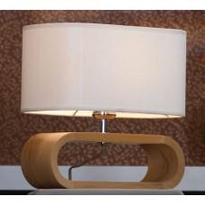 Настольная лампа Lussole LSF-2114-01 Nulvi, 1 плафон, хром с буком, кремовый